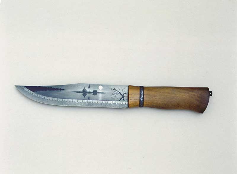 Как сделать рисунок для ножа 702